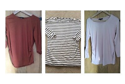3 X M&S And New Look Maternity Tops Size 10/12