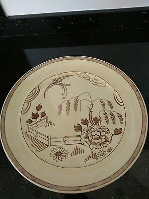 Old Bristol 18th Century Pountney And Co. Amberone Large Plate.