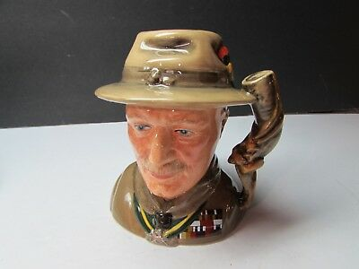 Super Royal Doulton Toby Jug Character Jug Lord Baden Powell Boy Scout D7144