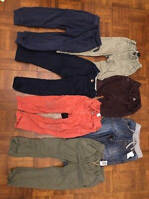 7 Pairs Boys 2-3 Trouser Bundle Jeans Chinos Joggers Next M&s