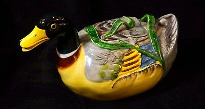 Vintage Hand Painted Duck Teapot - Made In Japan