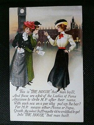 Genuine Suffragette Votes For Women The House That Man Built Postcard