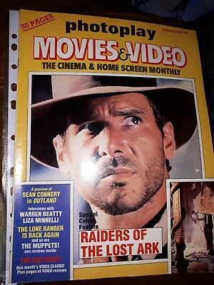 2 X Indiana Jones Photoplay Vintage Collectable Magazines. Harrison Ford