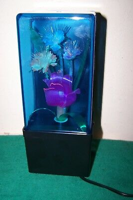 Vintage Retro Fiber Optic Color Changing Flower Lamp Light