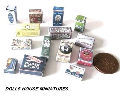 Victorian   Grocery Boxes   Miniatures