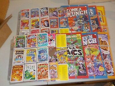 Huge Lot of Cards in Pages w/ Complete Sets, Cereal Killers, Star Wars, Foil W85