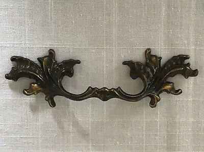 "Vintage Brass Drawer Pull French Provincial  3.5"" Center 6.75 Long 10234"