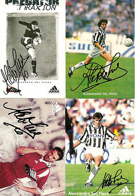 Alessandro Del Piero - signed promotion cards