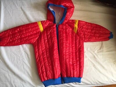 Child's 2-3 Years Vintage 70s Hooded Padded Jacket In Red NEW OLD STOCK