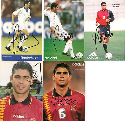 Fernando Hierro - signed autograph cards