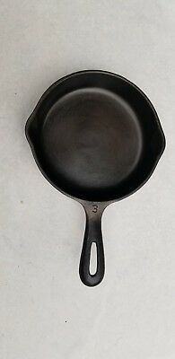 "Unmarked Wagner #3 (6 1/2"") Cast Iron Skillet Cleaned and Seasoned"