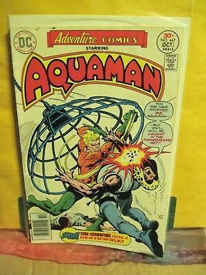 Adventure Comics No. 447 Oct. 1976 Aquaman Jim Aparo Art Dc Comics  Nm