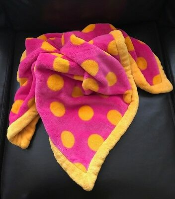 Elegant Baby Hot Pink & Orange Polka Dot Blanket  ~ Soft and Warm