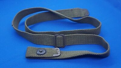 """M1 Carbine Type II Sling Olive Drab Color with """"C"""" Tip Ends WWII era"""