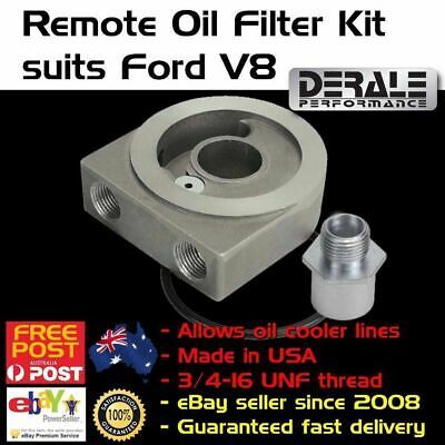 New Ford V8 & 6 Oil Filter Adaptor Adapter Spin on Sandwich Plate Cooler 3/8 NPT