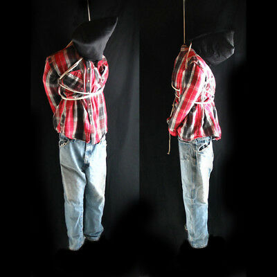 """Life-size 6' Hanging Man Scary Zombie Haunted House Halloween Prop 72"""""""