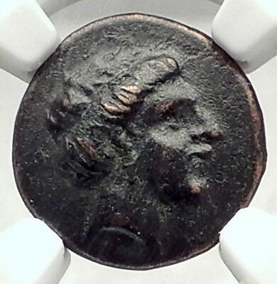 LARISSA in THESSALY 350BC Nymph & Horse Authentic Ancient Greek Coin NGC i72842