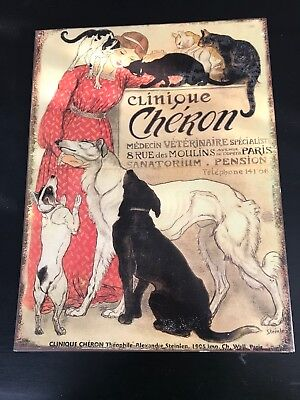 "Clinique Cheron Metal Sign Signboard Tin. 10 1/2"" x 14"""