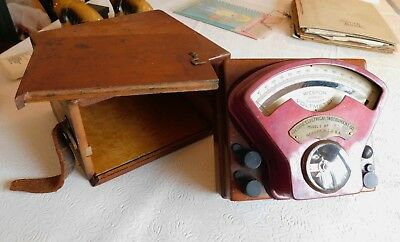 Rare! Boxed 1898 Vintage Weston Electrical Instrument Model 1 Voltmeter