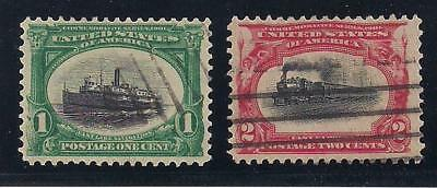 1901 Pan American Exposition - 2 Original U.s. Postage Stamps - 117 Years Old!