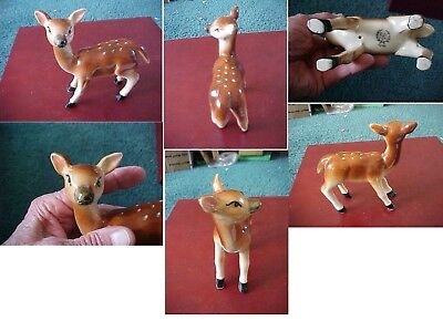 Vintage Deer Doe Fawn With Spots Ceramic Adorable Retro Mid-Century Japan Xmas