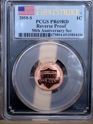 2018-S Black Label Lincoln Cent PCGS PR 69 FIRST STRIKE REVERSE PROOF * WOW! *