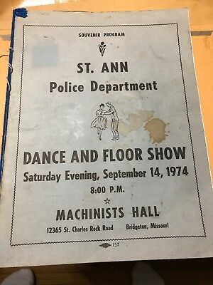 RK655 1974 St. Ann Police Department St Louis MO Dance Show