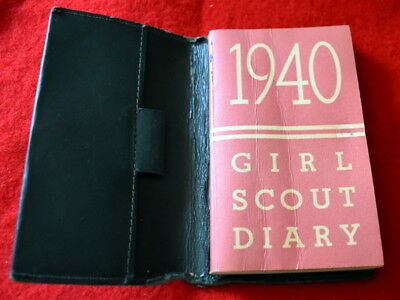 Vintage  Girl Scout - 1940 Girl Scout Diary -With Diary Cover