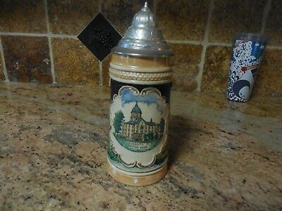 Notre Dame University  stein with lid made in Germany