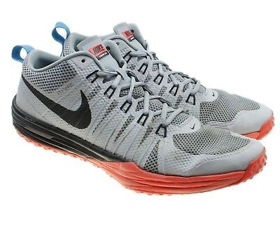 053c4cd45946 Nike Lunar TR1 Mens Gray Orange Flywire Trainer Athletic Shoes Sz 14  652808-005