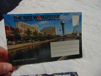 The 1982 Worlds Fair Fold Out Postcard Collectible Knoxville TN President Reagan