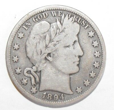 1894 Barber Half Dollar, Circulated and ungraded