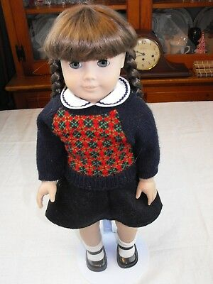American Girl Doll Molly w/Brunette Braided Hair Pleasant Company w/Outfit