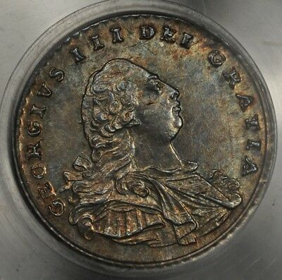 1795 Pcgs Ms63 Great Britain Penny S-3761 Toned
