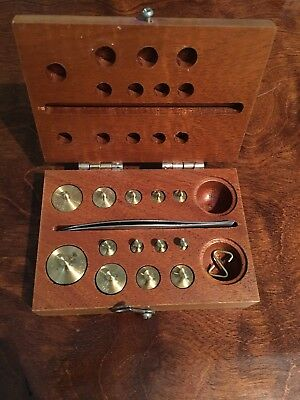 Chirstian Becker Torsion Balance Weights in Wooden Box