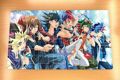 F2350+ Free Mat Bag Yugioh Six Generations of Protagonist TCG Playmat With Zones