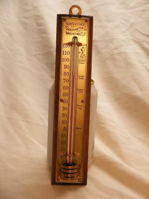 RARE 1880 Antique WATERTOWN THERMOMETER CO Thermometer Walnut NR