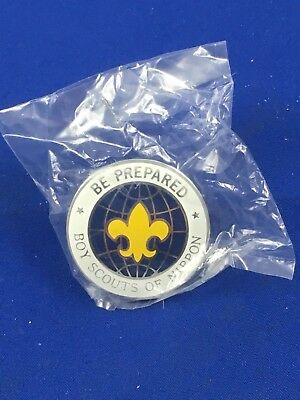 BOY SCOUTS OF NIPPON (Japan) 3 Neckerchief Slides 2 Patches Free Shipping