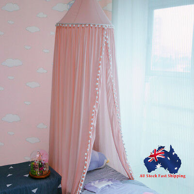 Bed Canopy Cotton Mosquito Net Curtains for Toddlers Kids Baby Crib Cot
