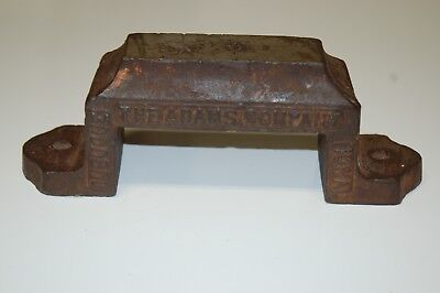 "Vintage Bench Anvil The Adams Co. Dubuque, Iowa 2 1/4"" wide 9"" long"