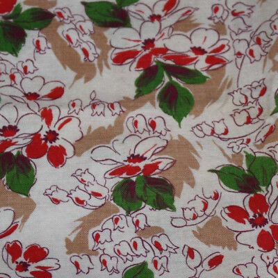 Vintage Feed Sack Floral Print Fabric ~ Excellent ~ Quilt Repair ~ 3 Pieces