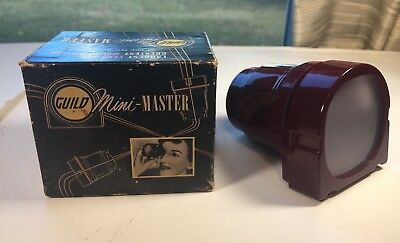 Vtg Craftsman's Guild Mini - Master Slide Viewer Hollywood Ca
