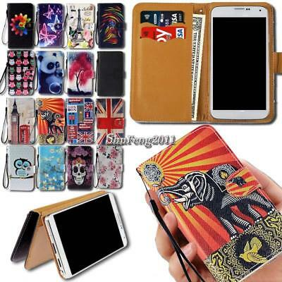 Universal Leather Wallet Card Stand Flip Cover Case For Various Smartphones