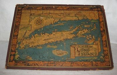 A Map of Long Island by Courtland Smith © 1939 Graphic Arts Co. 20.25 x 28""