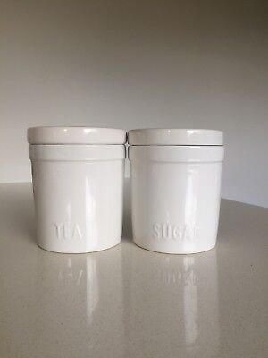 Canister Set Tea & Sugar By VUE. NEW!!