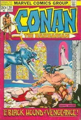 Conan the Barbarian (1970 series) #20 in Very Good + condition. Marvel comics