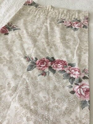 Jessica McClintock Vintage Lace Floral Pair of Two 42 x 86 Lined Drapery Panels