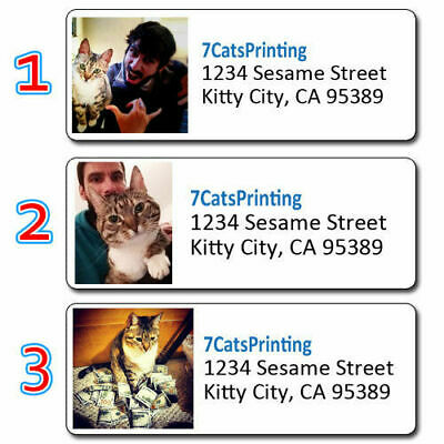 30 Custom Return Address Labels Use Any Pic Photo Graphic
