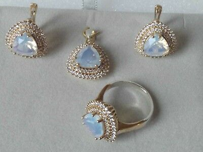 AAA Quality 925 Silver Handmade Jewelry Mother of Pearl  Full Set