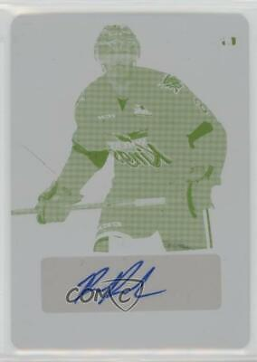 2014-15 In The Game Leaf Metal Printing Plate Yellow BA-RP1 Ryan Pilon Auto Card
